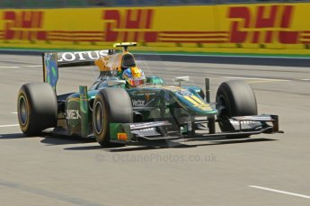 © Octane Photographic Ltd. 2011. European Formula1 GP, Saturday 25th June 2011. GP2 Race 1. Esteban Gutierez - Lotus ART. Digital Ref:  0085CB1D8112