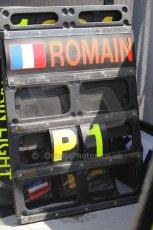 © Octane Photographic Ltd. 2011. European Formula1 GP, Saturday 25th June 2011. GP2 Race 1. Romain Grosjean's winners pitboard. Digital Ref:  0085CB1D8168