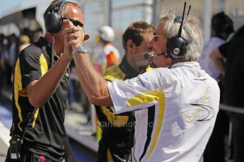 © Octane Photographic Ltd. 2011. European Formula1 GP, Saturday 25th June 2011. GP2 Race 1. The jubilant DAMS team after Romain Grosjean's win. Digital Ref:  0085CB1D8213