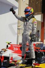 © Octane Photographic Ltd. 2011. European Formula1 GP, Saturday 25th June 2011. GP2 Race 1. Romain Grosjean triumphant after the win in the DAMS car. Digital Ref: 0085CB1D8272