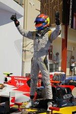 © Octane Photographic Ltd. 2011. European Formula1 GP, Saturday 25th June 2011. GP2 Race 1. Romain Grosjean triumphant after the win in the DAMS car. Digital Ref: 0085CB1D8280