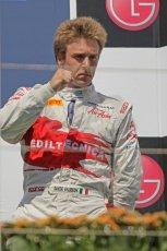 © Octane Photographic Ltd. 2011. European Formula1 GP, Saturday 25th June 2011. GP2 Race 1. Davide Valsecchi salutes his Caterham Team AirAsia team. Digital Ref:  0085CB1D8354