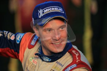 © North One Sport Ltd 2011 / Octane Photographic Ltd 2011. 13th November 2011 Wales Rally GB, Podium. A picture of happiness, Jari- Matti Latvala. Digital Ref : 0201cb1d9988