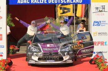 © North One Sport Ltd.2011/Octane Photographic Ltd. WRC Germany – Final Podium - Sunday 21st August 2011. Peter van Merksteijn and Erwin Mombaerts - Citroen DS3 WRC. Digital Ref : 0153CB1D6303