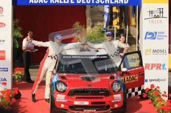 © North One Sport Ltd.2011/Octane Photographic Ltd. WRC Germany – Final Podium - Sunday 21st August 2011. Daniel Sordo and Carlos Corral - Mini John Cooper Works. Digital Ref : 0153CB1D6371