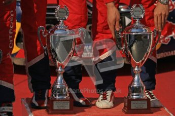 © North One Sport Ltd.2011/Octane Photographic Ltd. WRC Germany – Final Podium - Sunday 21st August 2011. Wiiners' trophies. Digital Ref : 0153LW7D0094