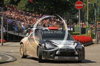 © North One Sport Ltd.2011/Octane Photographic Ltd. WRC Germany – SS19 - Circus Maximus - Sunday 21st August 2011, Kimi Raikkonen/Kaj Lindstrom, Citroen DS3 WRC. Digital Ref : 0152LW7D0464