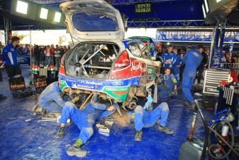 © Grize Motorsport 2011. WRC Portugal. Calm efficiency in service. Digital Ref : 0048cam11329