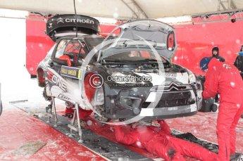 © North One Sport Limited 2011/Octane Photographic Ltd. 2011 WRC Sweden Hagfors service stage, Thursday 10th February 2011, Kimi Raikkonen, Citroen DS3 WRC, Ice One Racing. Digital ref : 0127CB1D0198