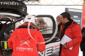 © North One Sport Limited 2011/Octane Photographic Ltd. 2011 WRC Sweden Hagfors service stage, Thursday 10th February 2011, Kimi Raikkonen, Citroen DS3 WRC, Ice One Racing. Digital ref : 0127LW7D8307
