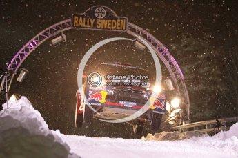 © North One Sport Ltd.2011/ Octane Photographic Ltd.2011. WRC Sweden SS1 Karlstad Arena Super Special, Thursday 10th February 2011, Sebastien Loeb/Daniel Elena, Citroen DS3 WRC. Digital ref : 0139CB1D6794