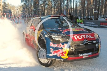 ©  North One Sport Limited 2011/Octane Photographic. 2011 WRC Sweden SS10 Fredericksberg, Saturday 12th February 2011, Sebastien Loeb/Daniel Elena, Citroen DS3 WRC. Digital ref : 0142CB1D7327