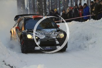 ©  North One Sport Limited 2011/Octane Photographic. 2011 WRC Sweden SS10 Fredericksberg, Saturday 12th February 2011, Kimi Raikkonen/Kaj Lindstrom, Citroen DS3 WRC. Digital ref : 0142LW7D8955