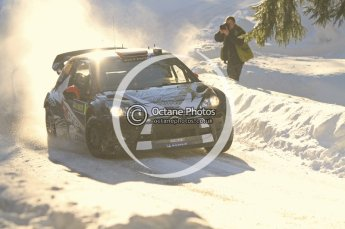 ©  North One Sport Limited 2011/Octane Photographic. 2011 WRC Sweden SS12 Lechfors II, Saturday 12th February 2011, Kimi Raikkonen/Kaj Lindstrom, Citroen DS3 WRC. Digital ref : 0143LW7D9146