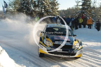©  North One Sport Limited 2011/Octane Photographic. 2011 WRC Sweden SS5 Vargassen lI, Friday 11th February 2011. Digital ref : 0141CB1D7107