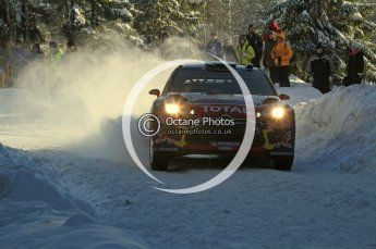 ©  North One Sport Limited 2011/Octane Photographic. 2011 WRC Sweden SS5 Vargassen lI, Friday 11th February 2011, Sebastien Loeb/Daniel Elena, Citroen DS3 WRC. Digital ref : 0141LW7D8745