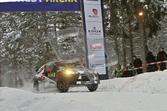 © North One Sport Ltd.2011/ Octane Photographic Ltd.2011. WRC Sweden SS2 Vargassen l (Colin's Crest), Friday 11th February 2011, Kimi Raikkonen/Kaj Lindstrom, Citroen DS3 WRC. Digital ref : 0140LW7D8634