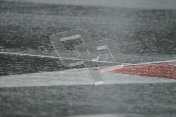 World © Octane Photographic 2011. Formula 1 testing Saturday 12th March 2011 Circuit de Catalunya. Heavy rain on the pitlane entry. Digital ref : 0018CB1D4360