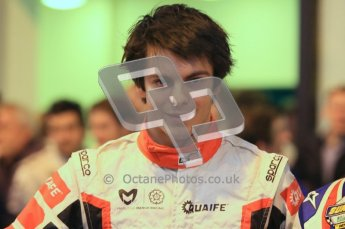 © Octane Photographic Ltd. 2012. Autosport International 2012 Celebrity Karting for the Race To Recovery charity. 12th January 2012. Adrian Quaife-Hobbs. Digital Ref : 0206cb1d1044