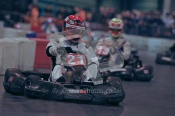 © Octane Photographic Ltd. 2012. Autosport International 2012 Celebrity Karting for the Race To Recovery charity. 12th January 2012. Digital Ref : 0206cb1d1184
