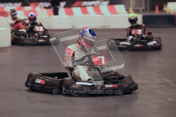 © Octane Photographic Ltd. 2012. Autosport International 2012 Celebrity Karting for the Race To Recovery charity. 12th January 2012. Digital Ref : 0206cb1d1340