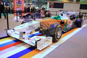 © Octane Photographic Ltd. 2012. Autosport International F1 Cars Old and New. Force India show car. Digital Ref : 0207cb7d1832