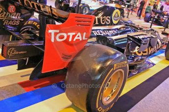 © Octane Photographic Ltd. 2012. Autosport International F1 Cars Old and New. Renault show car rear quarter. Digital Ref : 0207cb7d1845