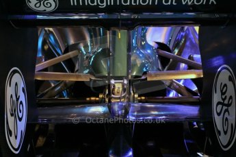 © Octane Photographic Ltd. 2012. Autosport International F1 Cars Old and New. Rear suspension detail on the Lotus show car. Digital Ref : 0207cb7d1852