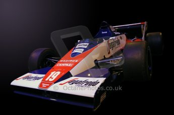 © Octane Photographic Ltd. 2012. Autosport International F1 Cars Old and New. Ex-Ayrton Senna Toleman TG183B in the Senna display, Historic F1. Digital Ref : 0207cb7d1943