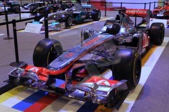 © Octane Photographic Ltd. 2012. Autosport International F1 Cars Old and New. McLaren show car front quarter. Digital Ref : 0207lw7d2359