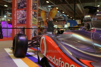 © Octane Photographic Ltd. 2012. Autosport International F1 Cars Old and New. McLaren show car side pod. Digital Ref : 0207lw7d2365