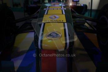 © Octane Photographic Ltd. 2012. Autosport International F1 Cars Old and New. Lotus show car nose. Digital Ref : 0207lw7d2371