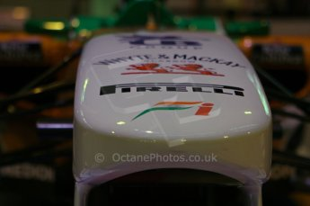 © Octane Photographic Ltd. 2012. Autosport International F1 Cars Old and New. Force India show car nose. Digital Ref : 0207lw7d2438