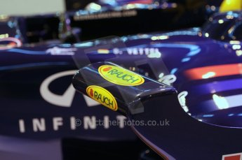 © Octane Photographic Ltd. 2012. Autosport International F1 Cars Old and New. Red Bull show car cockpit. Digital Ref : 0207lw7d2462