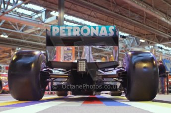© Octane Photographic Ltd. 2012. Autosport International F1 Cars Old and New. Mercedes show car rear end. Digital Ref : 0207lw7d2515