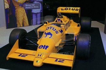 © Octane Photographic Ltd. 2012. Autosport International F1 Cars Old and New. Ayrton Senna Lotus 99T in the Senna display, Historic F1. Digital Ref : 0207cb7d0193