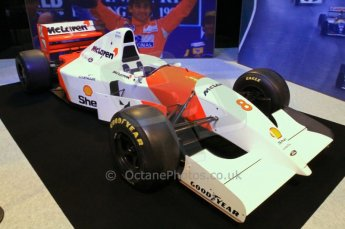 © Octane Photographic Ltd. 2012. Autosport International F1 Cars Old and New. Ayrton Senna McLaren MP4/8 in the Senna display, Historic F1. Digital Ref : 0207cb7d0202