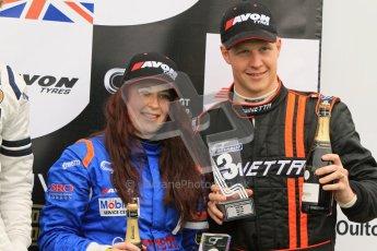© 2012 Octane Photographic Ltd. Monday 9th April. Avon Tyres British GT Championship - Race Podium. Digital Ref : 0288lw7d4354