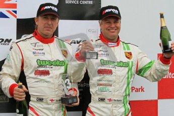 © 2012 Octane Photographic Ltd. Monday 9th April. Avon Tyres British GT Championship - Race Podium. Jon Minshaw & Tim Harvey. Digital Ref : 0288lw7d4413