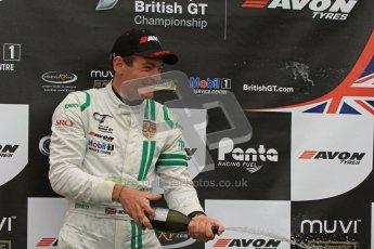 © 2012 Octane Photographic Ltd. Monday 9th April. Avon Tyres British GT Championship - Race Podium. Jon Minshaw & Tim Harvey. Digital Ref : 0288lw7d4442