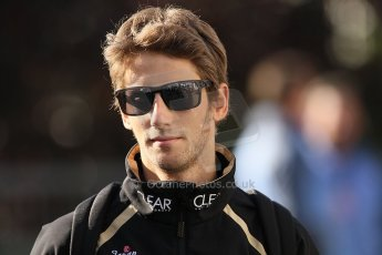 World © Octane Photographic Ltd. Belgian GP Spa - Sunday 2nd September 2012 - F1 Paddock - Romain Grosjean - Lotus. Digital Ref :