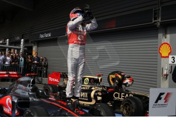 © 2012 Octane Photographic Ltd. Belgian GP Spa - Sunday 2nd September 2012 - F1 parc Ferme. Digital Ref :