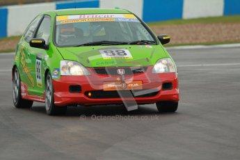 © Octane Photographic Ltd. BritCar Production Cup Championship race. 21st April 2012. Donington Park. Edward and Harry Cockhill, HE Racing, Civic Type R. Digital Ref : 0300lw1d2122