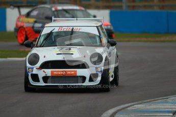 © Octane Photographic Ltd. BritCar Production Cup Championship race. 21st April 2012. Donington Park. Martin Parsons/Chris Knox, Mini Cooper S. Digital Ref : 0300lw1d2263