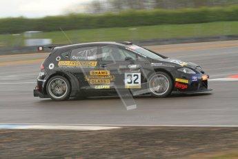 © Octane Photographic Ltd. BritCar Production Cup Championship race. 21st April 2012. Donington Park. Mark and Peter Cunningham, Seat Leon Supercopa. Digital Ref : 0300lw7d7324