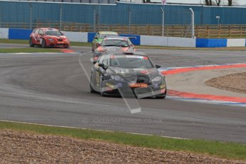 © Octane Photographic Ltd. BritCar Production Cup Championship race. 21st April 2012. Donington Park. Mark and Peter Cunningham, Seat Leon Supercopa. Digital Ref : 0300lw7d7453