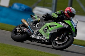 © Octane Photographic Ltd/Chris Enion 2012. British Superbikes test day – Donington Park, Tuesday 7th August 2012. Michael Rutter - MSS Bathams Kawasaki. Digital Ref : 0450CE1D0382