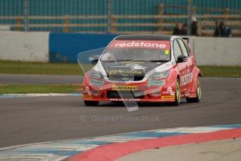© Octane Photographic Ltd. BTCC - Round Two - Donington Park - Quail. Saturday 14th April 2012. Liam Griffin, Ford Focus, Redstone Racing. Digital ref : 0294lw1d7146