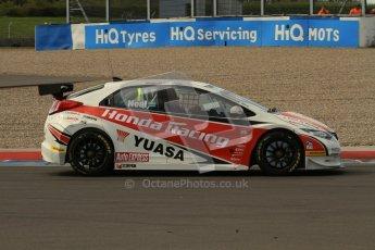 © Octane Photographic Ltd. BTCC - Round Two - Donington Park - Race 1. Sunday 15th April 2012. Matt Neal, Honda Accord, Honda Yuasa Racing Team. Digital ref : 0295lw7d3369