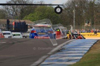 © Octane Photographic Ltd. BTCC - Round Two - Donington Park - Race 1. Sunday 15th April 2012. 4 seconds until lights out for race 1. Lights out! Race 1 gets underway. Digital ref : 0295lw7d3435